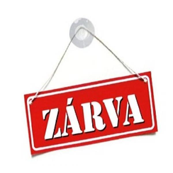 Szabadság miatt ZÁRVA!